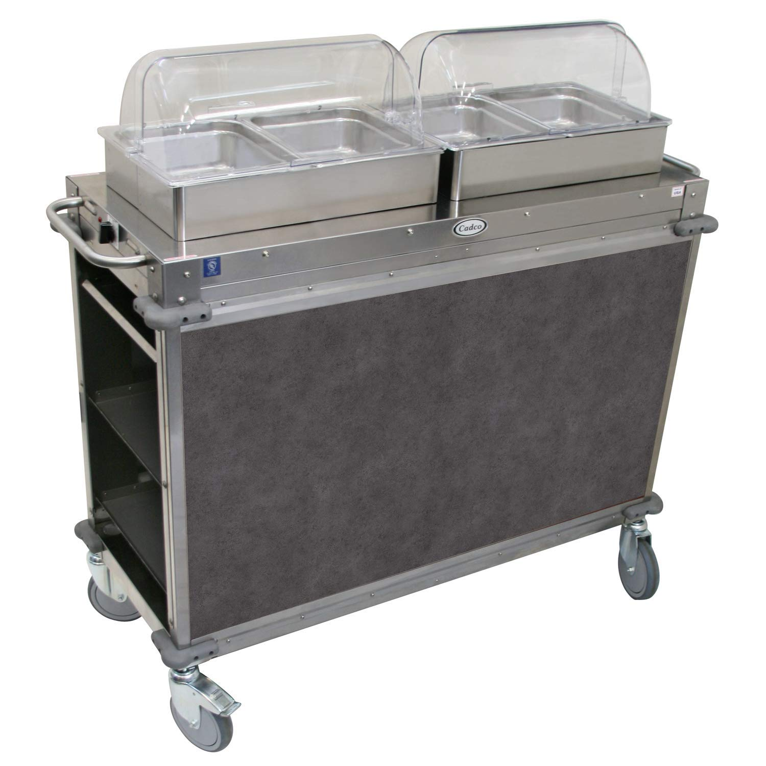 "Mobile Hot Buffet Cart Size: 51"" H x 52.75"" W x 20.75"" D, Color: Mission Smoke Grey"