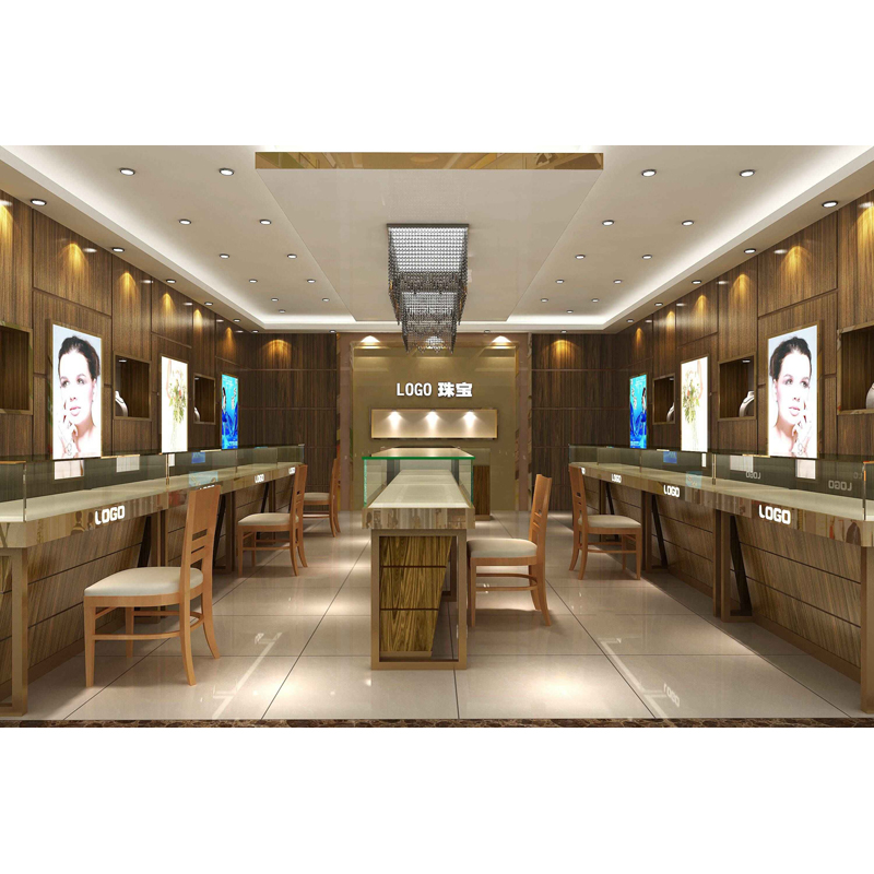 Luxury Jewelry Shop Furniture Interior Design With 3D Max Jewelry Shop Layout