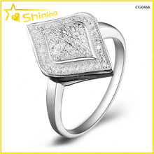 micro pave zircon 925 italian silver jewelry cad 3d design rings