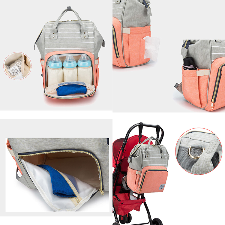 Waterproof Travel Mom Mummy Back Pack Fashion Mommy Baby Changing Nappy Bag Baby Diaper Bag Backpack
