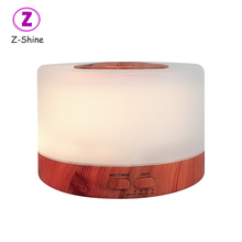 New colorful luce wood grain 7 led aroma di legno diffusore ad ultrasuoni