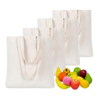 Canvas Bag Shopping Grocery Tote Shoulder Reusable Cotton Canvas Tote Bag for for Crafting plain hand bags