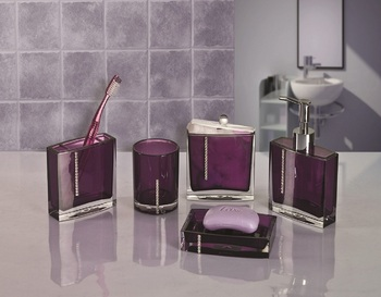 Purple Clear Acrylic Bathroom