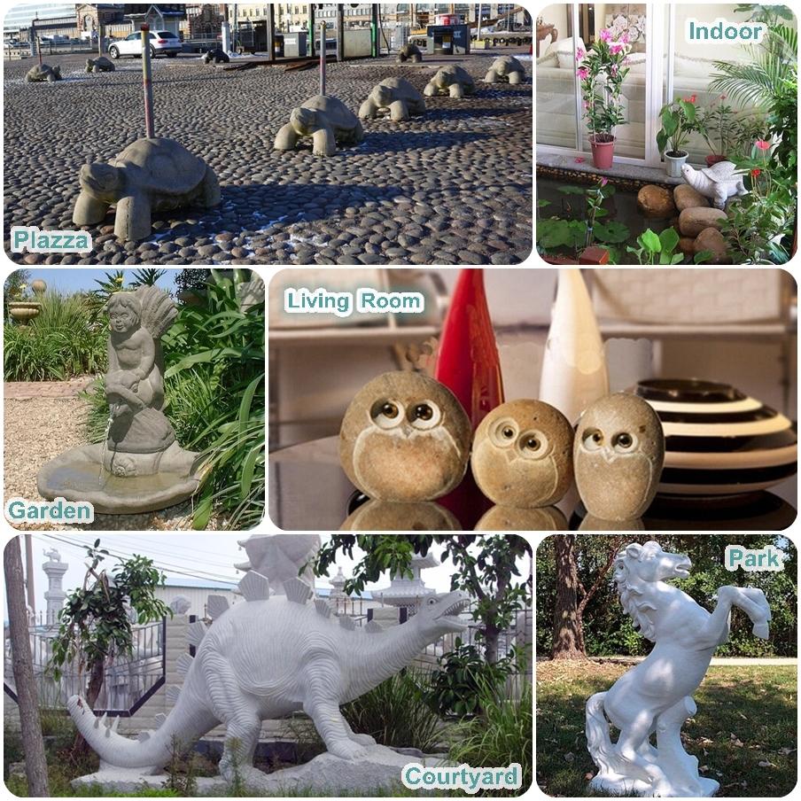 Talladas a mano moderno de piedra Natural tortugas escultura