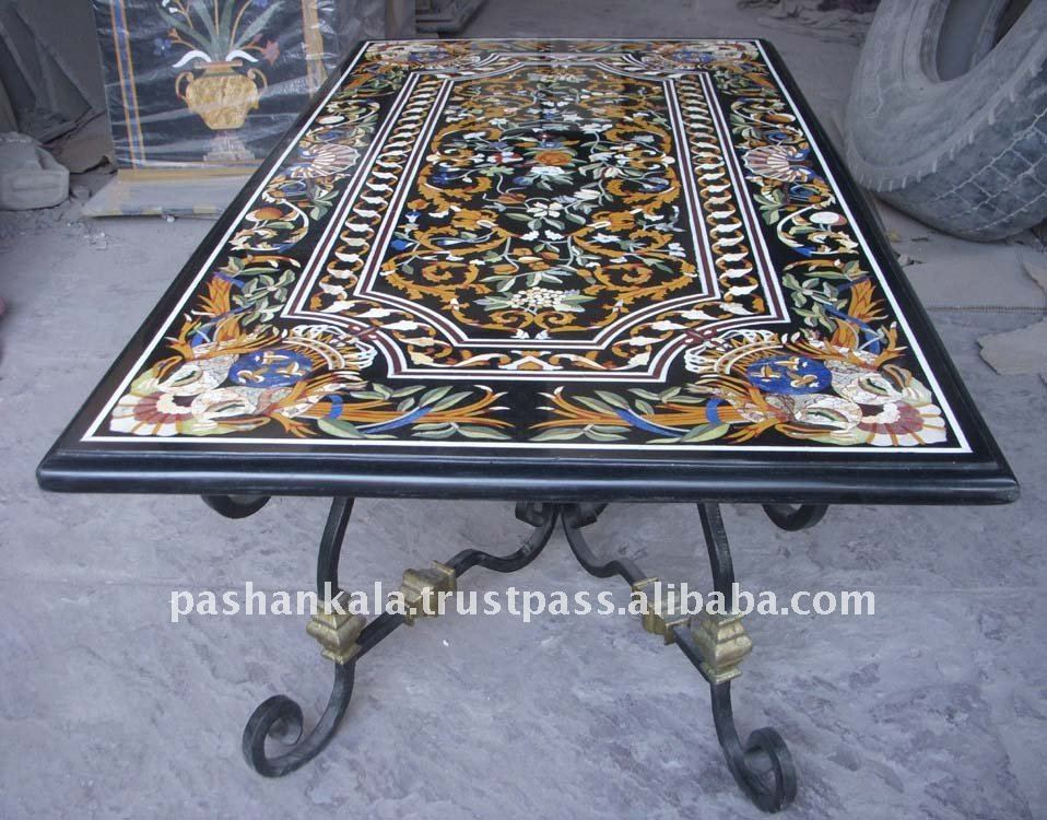Intricate Marble Inlay Dining Table   Buy Marble Inlay Table Top,Decorative  Stone Table,Black Marble Inlay Dining Table Top Product On Alibaba.com