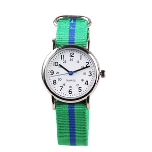 Simple watch custom logo number kids attractive Nylon watch Hot sale 2017 weave watch strap