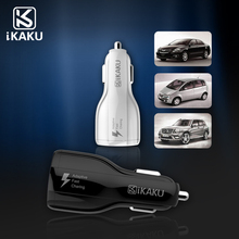 KAKU wholesale electric quick charge wholesale usb car charger adapter cell phone