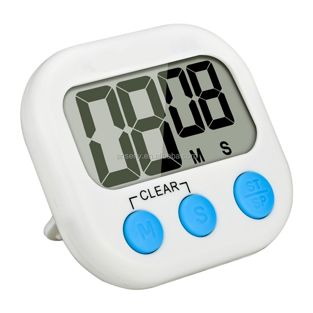 Kitchen Clock Timer Cooking 99 Minute Digital LCD Sport Countdown  Calculator Js104