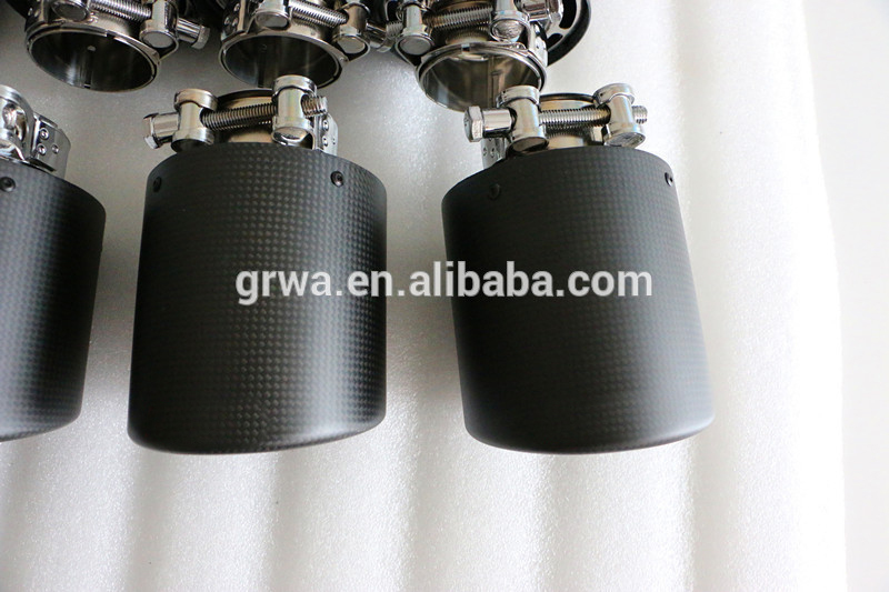 New Style Carbon Fiber Stainless Steel Exhaust Tips for Akrapovic