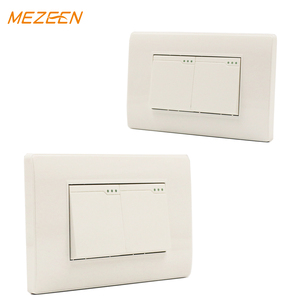 many color availability PC material 2 gang 2 way wall touch switch for home