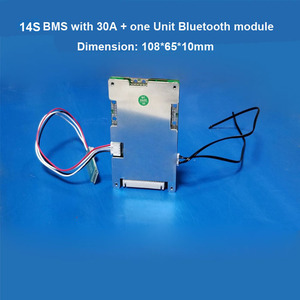14S li ion e-bike battery PCB and smart BMS 58 8V with Communication  function with APP and 30A constant current