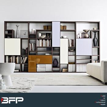 Colored Wall Bookshelf Waterproof Tv Case Bookcase Living Room ...