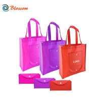 Free Stock Sample Wholesale Custom Printed Recycled Folding Foldable Reusable Non Woven Tote Shopping Bag