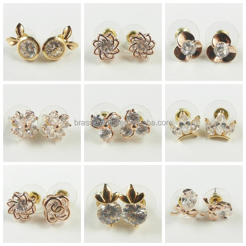 Different Types Zricon Diamond Paved China Imitation Gold Plated ...