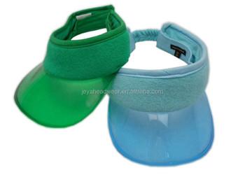 44023026e5c Fashion Terry Cloth Eyeshade Transparent PVC Visor Perspex Sun Visor Cap