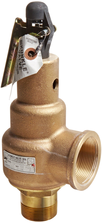 1//4 NPT Male Kingston 112CSS Series Brass ASME-Code Safety Valve 165 psi Set Pressure