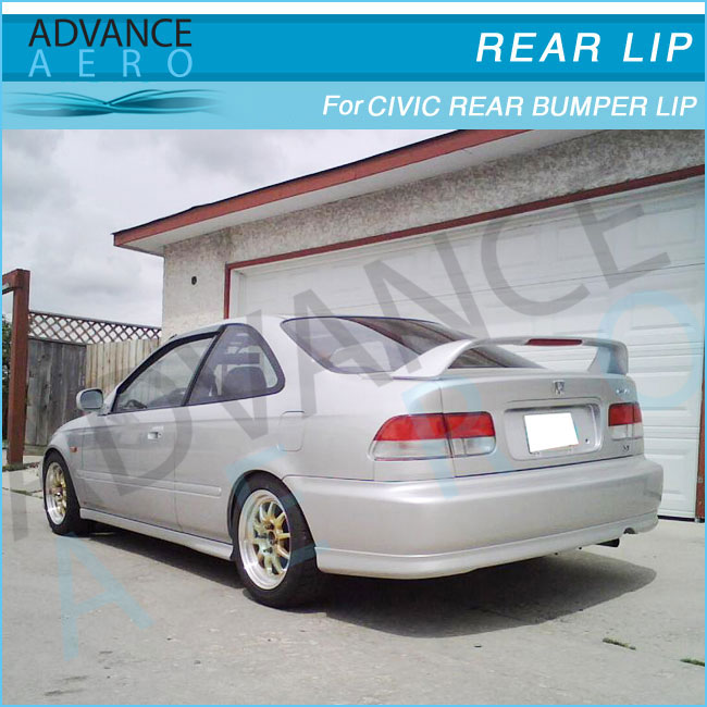 for 99 00 honda civic 2 4dr pu type r style rear bumper lip spoiler body kit   buy for civic ek