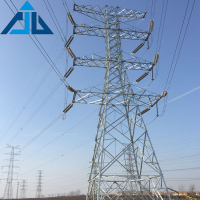 Double Circuit Transmission Line High Tension Steel Angle Tower