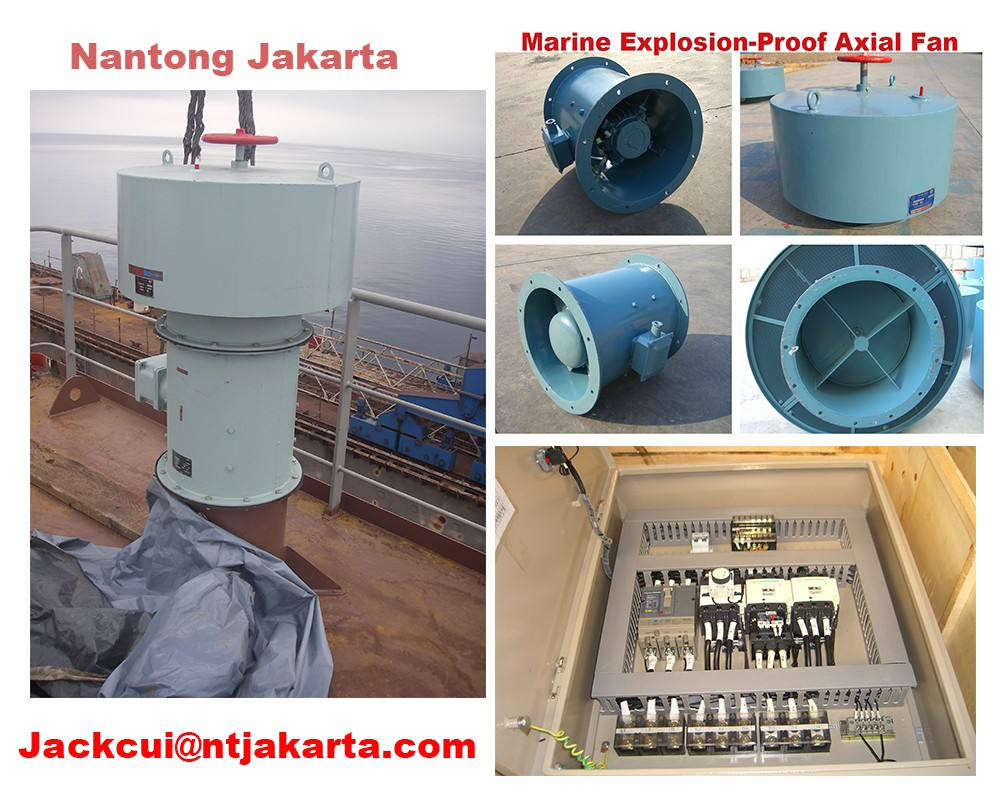 CBZ-90C marine explosion-proof axial fan with water driven