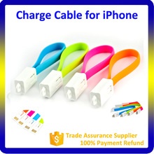 2016 Hot Gift Item Colorful Keychain USB Data and Charging for iPhone Cable with MFI Certification
