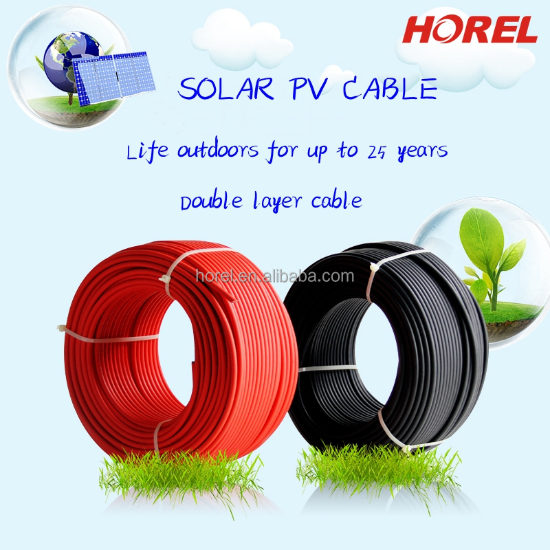 red or black color PV cable pv wire(cable)