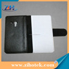 Blank leather sublimation cover for Samsung S3 Mini (I8190) white fabric heat transfer printing