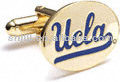 Hot Sell Man's Custom Oval Gold Plated Ucla Mark Metal Cufflinks