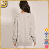 OEM factory price modern grey classic women hoody, fleece pullover pattern hoody