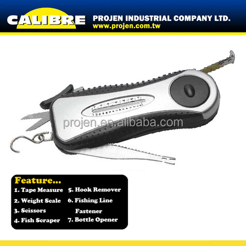 CALIBRE Promotional Gift Led Light Multi Function Tool 7 in 1 Fishing Tool