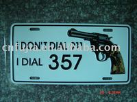 i don't dial 911,i dial 357 car license plate,auto license plate