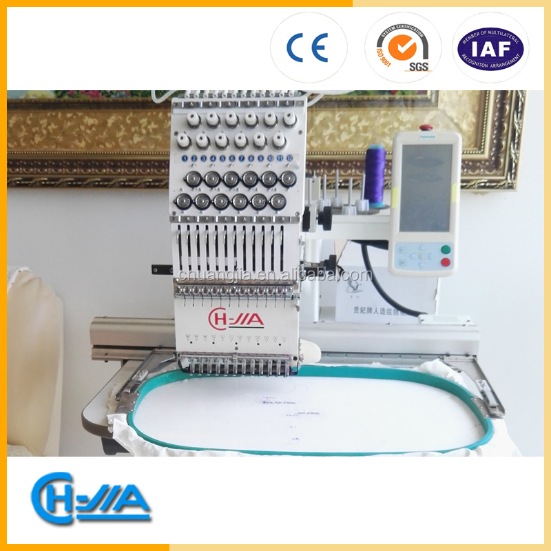 CH-JIA 1201 SIGLE HEAD EMBRODIERY MACHINE FLAT EMBROIDERY MACHINE FOR CAP/T SHIIRT