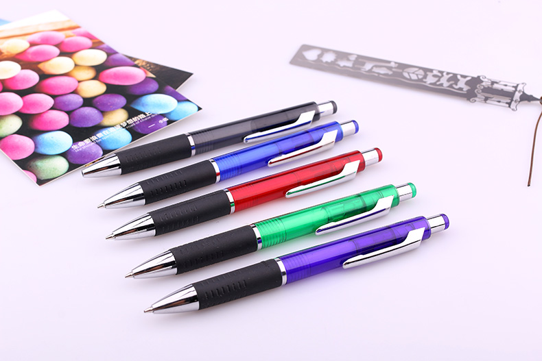 Hot-selling latest retractable exhibition account superb light show convenient saler well plastic ball pen