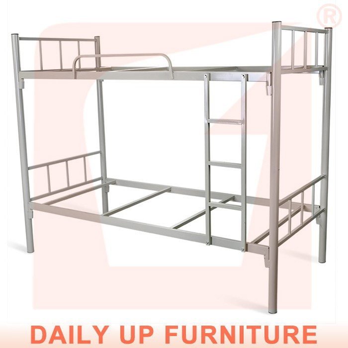 Adult Bunk Bed for Hostels Steel Metal School Student Dorm Bunk Bed Cheap Strong Army Military Dormitory Loft Bed Frame