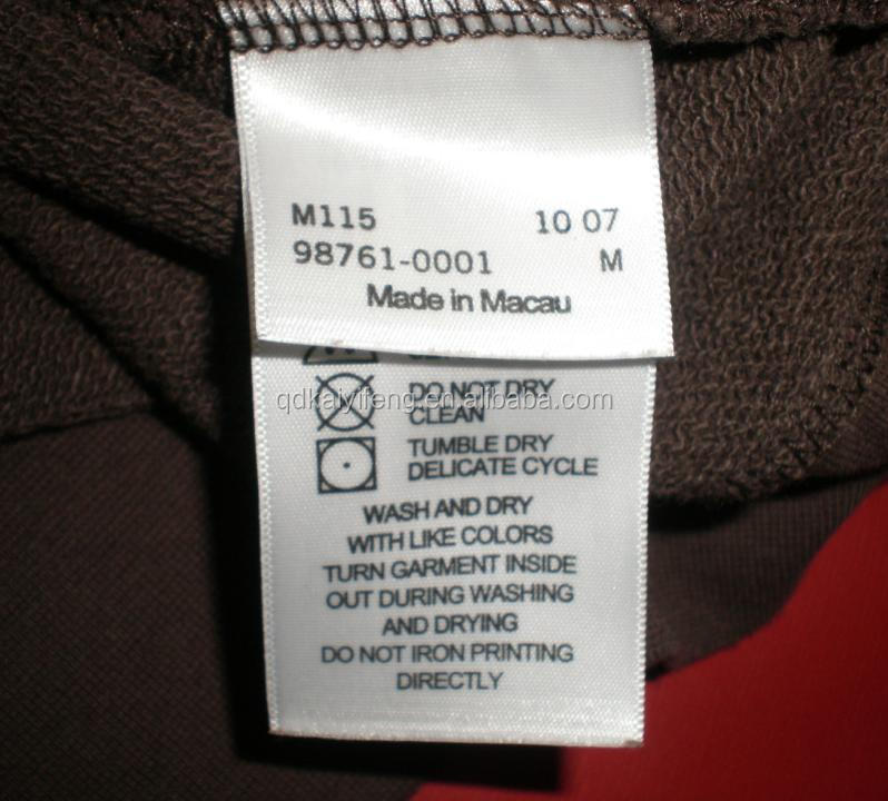 Polyester Cotton Wash Care Label For Garment Buy