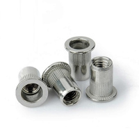 stainless steel 304 316 Knurled flat head hexagon body insert rivet nuts
