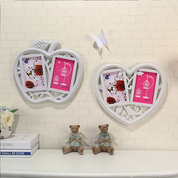 Apple Shaped Picture Frame Heart Shape Photo Funia Double Photo ...