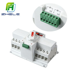 China Manufacture Single Phase Electrical AC 230V ATS Automatic Transfer Switch Change Over Switch