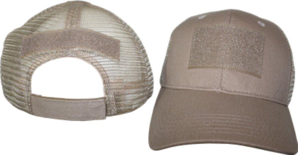 Buy Light Khaki Mesh Velcro Patch Baseball Cap Hat in Cheap