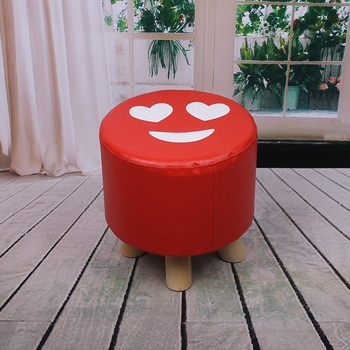 Fantastic Creative Fashion Pu Expression Four Legged Stool Living Room Foot Bed Small Stool Buy Wooden Bench Legs Furniture Stool Wooden Stackable Stool Ibusinesslaw Wood Chair Design Ideas Ibusinesslaworg