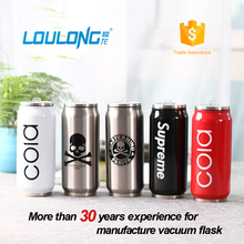 wholesale double wall insulated water bottle/cans ,stainless steel cola can shape vacuum coke bottle