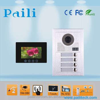 2 Wire Intercom Door Entry System Multi Apartments Building Video