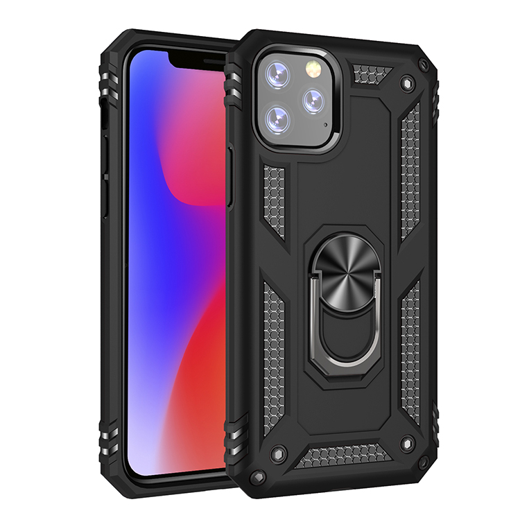 Magnetic TPU PC Phone Case <strong>Cover</strong> for iPhone, Phone Shell with Holder Stand 3 in 1 for iPhone 11 Case