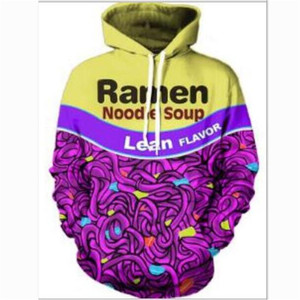 fashion Mens 3D Sweatshirt and Hoodies Funny Print Flavor Noodle Soup Ramen Harajuku Hip Hop Long Sleeve Pullover