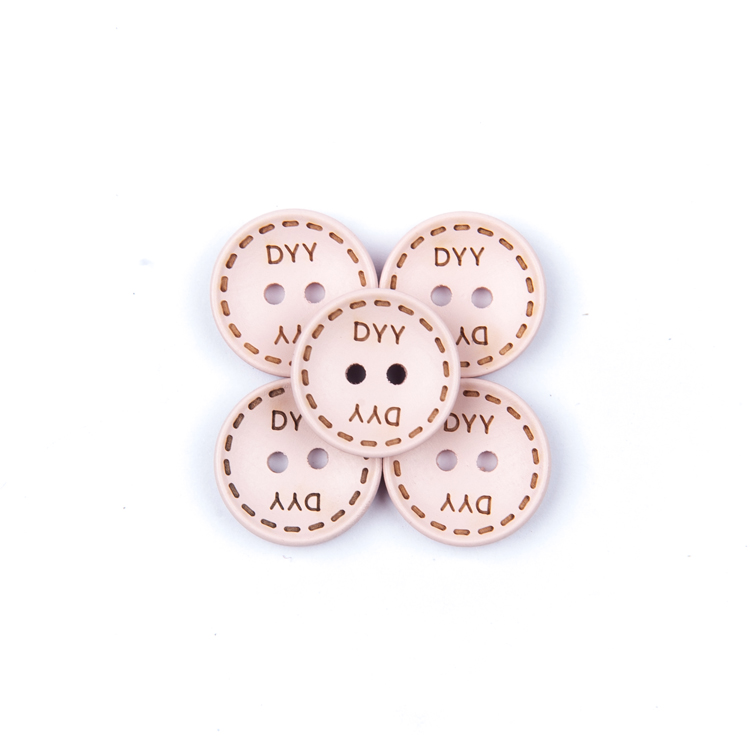 Eco-friendly round 4 holes fancy custom clothing shirt resin button