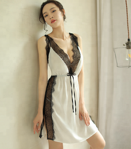 S840 satin slip sexy babydoll dress sleepwear lingerie
