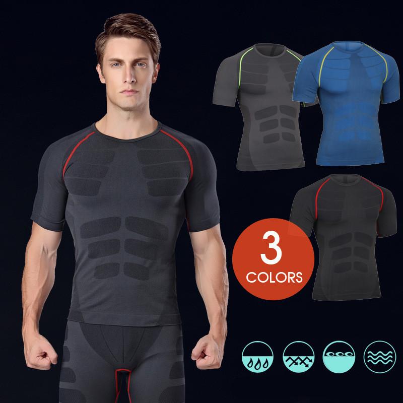 2017 Instyles Super Soft Men O-Neck Sports Gym Blank Compression Shirts 19