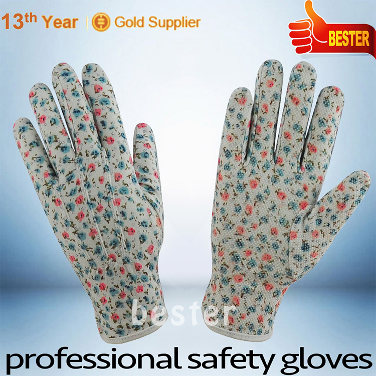 China good supplier hot sell 100% cotton glove with pvc dots
