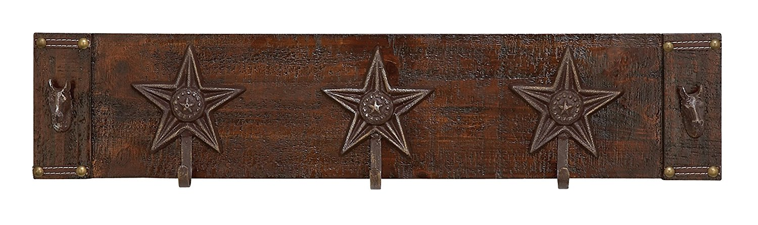 """GwG Outlet Wooden Metal Wall Hook 28""""W, 6""""H 55009"""