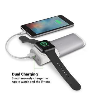 2019 Trendy Gadgets 5200mAh Qi External Backup Battery Wireless Charger for Both Apple Watch Power Bank For iPhone