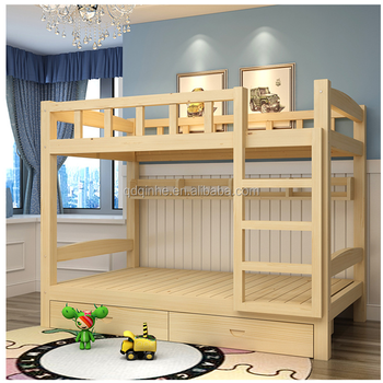 Solid Wood Pine Bunk Bed Home Indoor Furniture Bunk Bed Strong